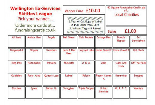 A6 `Personalised For You` Fundraising Scratch Cards / Raffle Ticket / Draw Cards