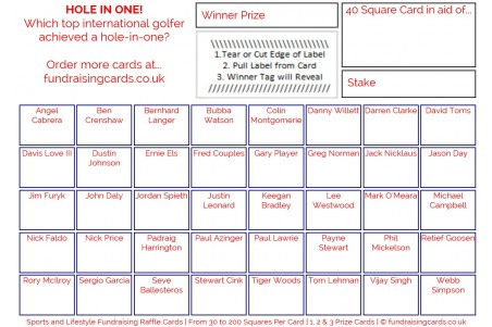 24 x Golf Fundraising Cards / Raffle Ticket / Scratchcards Value Pack