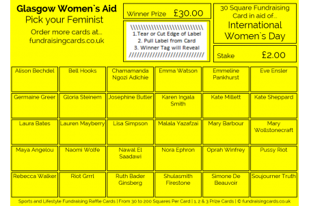 A6 `Personalised For You` Fundraising Raffle Ticket / Draw Cards / Scratchcards