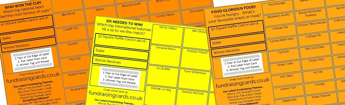 Easy to use Fundraising Scratch / Raffle Cards